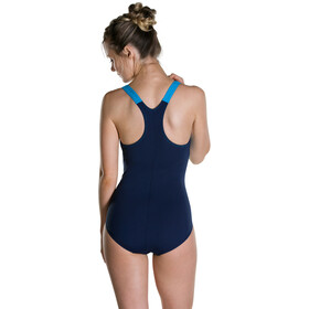 speedo Boom Splice Racerback Swimsuit Women Navy/Winsdor Blue